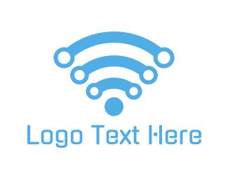 Information Technology - Wifi Technology logo design
