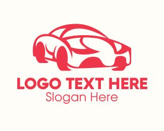 Car Racing - Red Luxury Car logo design