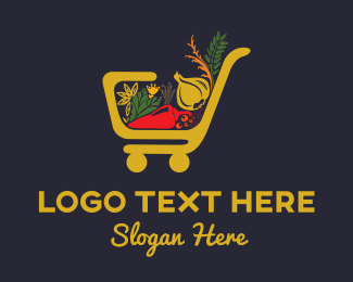 Trolley - Grocery Store logo design