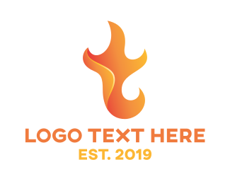 Chef - Flame T logo design