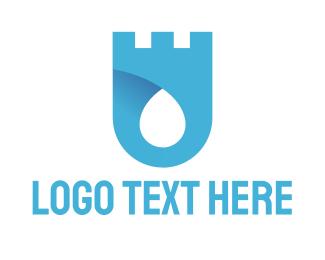 Turret - Water Castle logo design