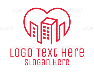 """""""Heart City Outline """" by town"""