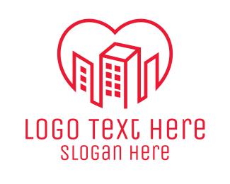 Heart - Heart City Buildings logo design