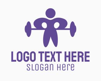 Strength - Gym Man logo design