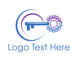 Key - Blue Key logo design