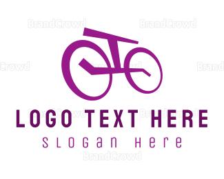 Bicycle - Purple Bicycle logo design