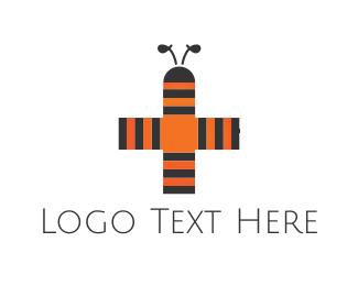 Antenna - Bee Cross logo design