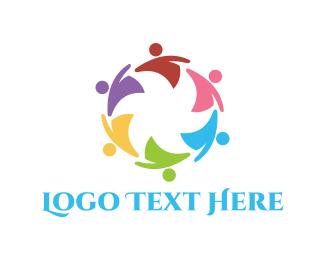 Crowd - Colorful People logo design