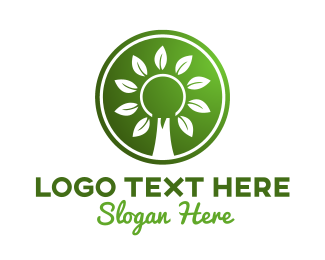 Seasonal - Green Tree Shield logo design