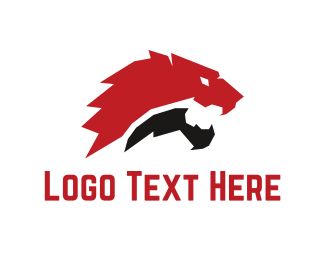 Soccer - Red Lion logo design