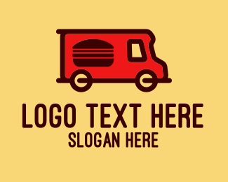 Small Business - Red Burger Truck logo design
