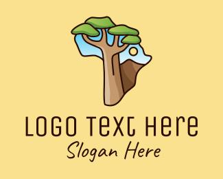 Jungle - African Tree Africa logo design