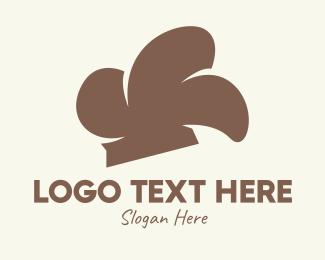 Restaurant - Brown Chef Hat logo design