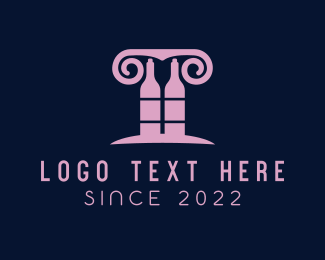 Booze - Wine Greek Bar logo design
