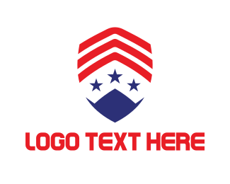 Usa - USA Military Badge logo design