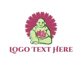 Zen - Green Buddha logo design