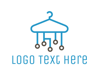 Hanger - Tech Clothes Hanger logo design