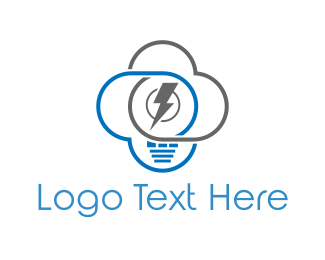 Electrician - Electrical Cloud logo design