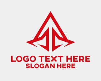 Jagged - Sharp Red Arrow logo design