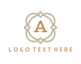 Sleek - Elegant A Emblem logo design