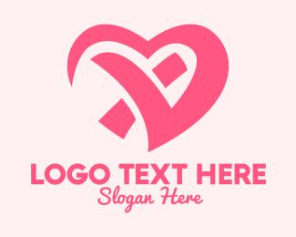 Heart Care - Modern Pink Heart logo design