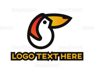 Bird House - Abstract Toucan logo design