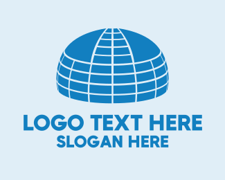 Tent - Big Blue Dome logo design