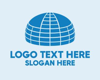 Hut - Big Blue Dome logo design