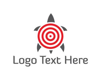 Bullseye - Target Turtle logo design