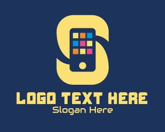 Apps - Phone App Letter S  logo design