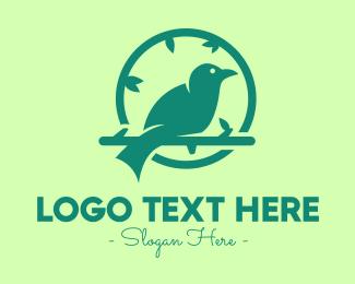 Bird Beak - Green Forest Bird logo design