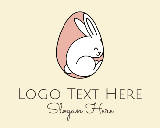 Nursery - Egg Bunny Rabbit logo design
