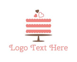Pastry - Pink Wedding Cake logo design
