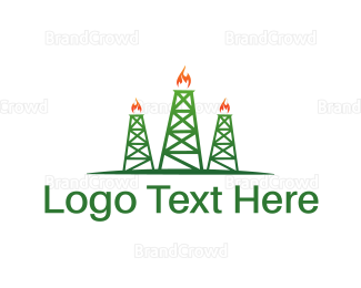 Petroleum - Oil Towers logo design