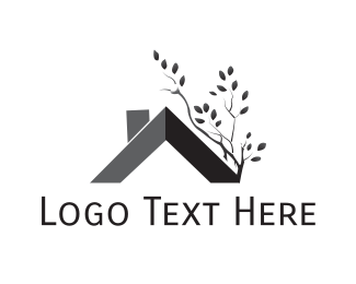 Gardener - Roof & Tree logo design