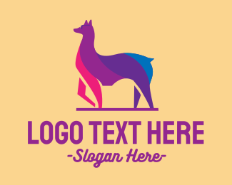 Llama - Colorful Alpaca Sunglasses logo design