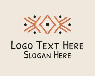 Detail - Orange Tribal Detail logo design