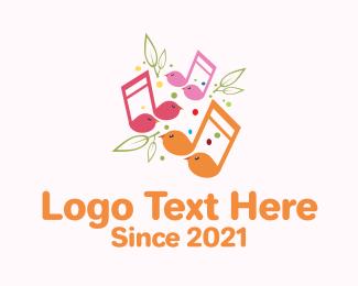 Voice Lesson - Musical Song Bird logo design