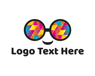 Psychedelic - Colorful Eyeglasses logo design
