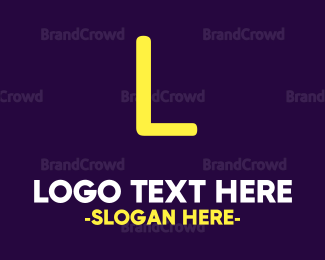 Purple And Yellow - Yellow Game Text logo design