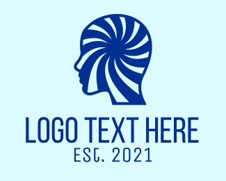 Optical Illusion - Blue Human Illusion logo design