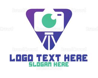 Electronics Boutique - Triangle Photo Booth logo design
