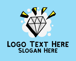 Doodle - Shiny Diamond Doodle  logo design