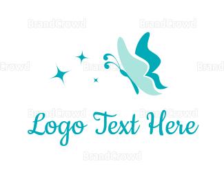 Star - Butterfly & Stars logo design