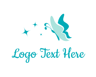 Insect - Butterfly Star logo design