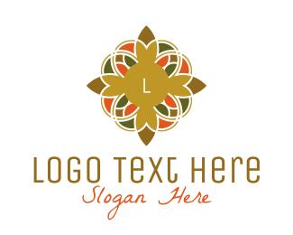 Hinduism - Ornamental Flower Lettermark logo design
