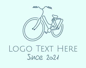 Riding - Minimalist Utility Bike logo design