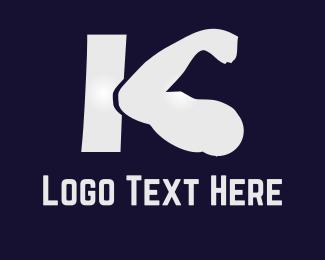 Strength - K Fitness logo design