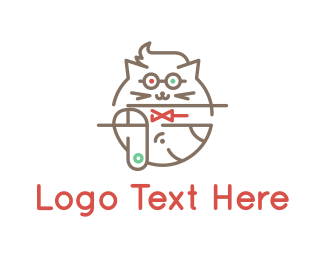 Cat - Cat & Dog logo design