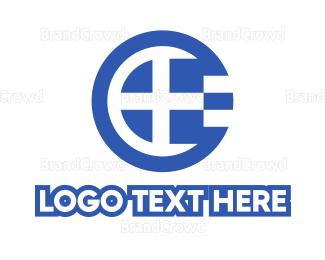 European - Round Greece Flag logo design